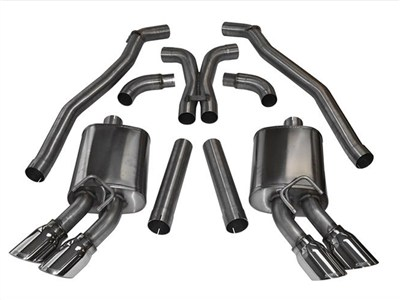 "Corsa 14971 Sport Cat-Back Exhaust, 4.0"" Pro-Series Tips, 2012 2013 Camaro ZL1"