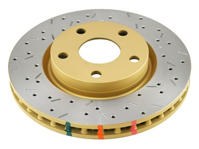 DBA DBA42113XS Front 4000 Series Cross-Drilled and Slotted Rotor 2005-2009 Mustang GT