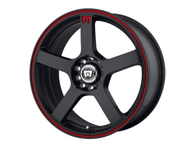 Motegi Racing MR11677031748 MR116 17x7 5x100/5x114.3 Matte Black/Red Stripe (48mm Offset) Wheel