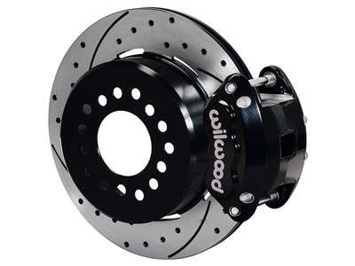 "Wilwood 140-12210-D D154 Pro-Series 12"" Rear Big Brake Kit, Drilled, Black, Ford Small Flange 2.66"