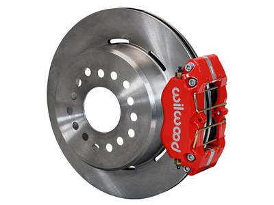 "Wilwood 140-13207-R Dynapro 12"" Dust Boot Brake Kit Red Calipers 2.5"" O/S, Ford Big New Style Flange"