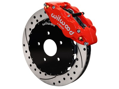 "Wilwood 140-9833-DR Front Superlite 6 Red 13"" Drilled Big Brake Kit 1998-2002 Camaro/Firebird"