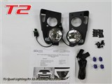 ACS 33-4-044 Camaro LED ACS T1 Quad Light Kit 2010 2011 2012 2013 Chevrolet Camaro w/T2 Bumper Ports /