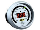 AEM 30-4402 Oil Temperature Display Gauge /