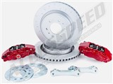 "Alcon BKR5059D07 14"" Big Brake Kit With 4-Piston Red Calipers 2010-2020 Ford F150 & Raptor / Alcon BKR5059D07 14"" Big Brake Kit"