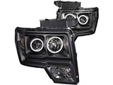 Anzo USA 111161 Halo LED Black CCFL Projector Headlights 2009-2014 Ford F-150 /