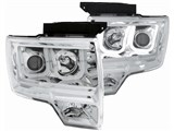 Anzo USA 111264 LED U-Bar Style Clear Projector Headlights 2009-2014 Ford F-150 /