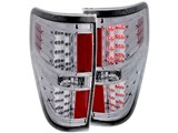 AnzoUSA 311147 Clear Chrome LED Taillights 2009-2014 Ford F-150 & F-150 SVT Raptor /