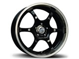 Avid-1 AV021770MA42BP AV-02 17x7 4x100 / 4x114.3 +42 Offset Wheel - Black/Machined Lip /