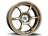 Avid-1 AV021770MA42GD AV-02 17x7 4x100 / 4x114.3 +42 Offset Wheel - Gold /