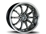 Avid-1 AV041775MC42HB AV-04 17x7.5 5x100 / 5x114.3 +42 Offset Wheel - Hyper Black/Machined Lip /