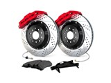 "Baer 4301115R Rear Extreme PLUS Corvette C6 Baer Claw 14"" Red 6-Pot Big Brake Kit With SDZ Rotors / Baer 4301115R Rear Extreme PLUS Big Brake Kit"