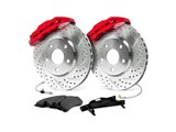 "Baer 4302136R 14"" Rear Extreme Brake System, Red, Slotted & Drilled, 1999-2014 GM 1500 Truck/SUV / Baer 4302136R Rear Extreme+ Big Brake Kit"
