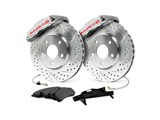 "Baer 4302136S 14"" Rear Extreme Brake System, Silver, Slotted & Drilled, 1999-2014 GM 1500 Truck/SUV / Baer 4302136S Rear Extreme+ Big Brake Kit"
