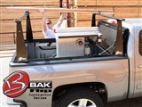 BAK 26309BT BAKFlip CS w- Rack 2004-2013 Ford F150 Lincoln Mark LT SuperCrew 66-in Bed W/O Track Sy /