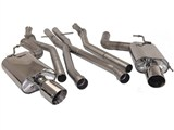"B&B FDOM-0305 2004-2007 Cadillac CTS-V Exhaust w/X-pipe & w/Twin 4"" Double Wall Tips /"