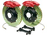 Brembo 2P4.8001A GT Rear Brake Kit 4-Piston 14.4in Drilled Zinc Rotors 2010 2011 2012 2013 Camaro V6 /