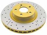 DBA 2020X Street Series X-Gold Rotor Drilled/Slotted Rotor, Front 2005-2006 Pontiac GTO /