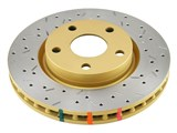 DBA DBA42114XS Rear 4000 Series Cross-Drilled and Slotted Rotor 2005-2009 Mustang GT/V6 /