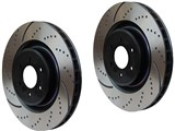 "EBC GD7255 Dimple-Drilled Front Rotors 12.4"" 05+ Mustang GT/Shelby GT/V6 /"