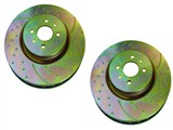 EBC GD7265 Slotted & Dimple-Drilled Rotors - Front Pair / ARO Only