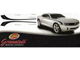 Granatelli Motorsports 500040 Hockey Stripe Set - Matte Black 2010 2011 2012 2013 Camaro /