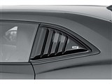 GT Styling GT4172S Smoked Louvered Quarter Window Covers 2010 2011 2012 2013 Camaro /
