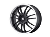 Helo HE84577505342 HE845 17x7.5 5x100/5x110 Black (42mm Offset) Wheel /