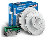 Hawk HKY659672 Front Brake Combo Slotted Rotors & LTS Pads Ford F-150/Expedition /