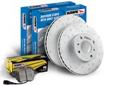 Hawk HKZ659672 Front Brake Combo Slotted Rotors & Performance Ceramic Pads Ford F-150/Expedition /