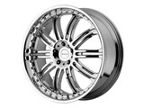KMC KM12728552238 KM127 Dime 20x8.5 5x120 +38mm Chrome Wheel /