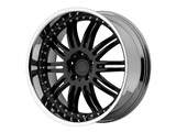 KMC KM12728552538 KM127 Dime 20x8.5 5x120 +38mm Gloss Black Wheel /
