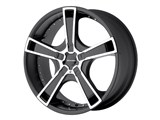 KMC KM66388000742 Swindle 5x120 18x8 Black (42mm Offset) Wheel /