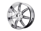 KMC KM66529000230 Surge 20x9 6x127 Chrome (30mm Offset) Wheel /