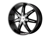 KMC KM66529000530 Surge 20x9 6x127 Black (30mm Offset) Wheel /