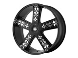 KMC KM66922820738 INK'D 22x8.5 5x115/5x120 Black (38mm Offset) Wheel /