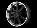 KMC KM67228500338 Widow 20x8.5 5x120 Black (38mm Offset) Wheel /