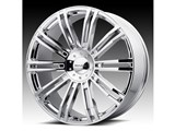 KMC KM67728517235 D2 20x8.5 5x114.3/5x120 Chrome (35mm Offset) Wheel /