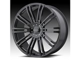 KMC KM67728517335 D2 20x8.5 5x114.3/5x120 Black (35mm Offset) Wheel /