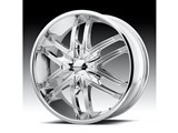 KMC KM67828500238 Splinter 20x8.5 5x120 Chrome (38mm Offset) Wheel /