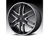 KMC KM67828500338 Splinter 20x8.5 5x120 Black (38mm Offset) Wheel /