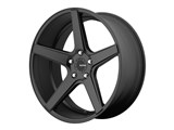 KMC District KM68528552735 20x8.5 5x120 Satin Black (35mm Offset) Wheel /