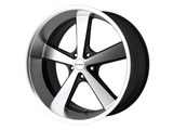 KMC KM70189052335 Nova 18x9 5x120 Black (35mm Offset) Wheel /