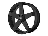 KMC KM77528017742 Rockstar 20x8 5x114.3/5x120 Black (42mm Offset) Wheel /