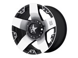 KMC XD77578000535 XD Rockstar 17x8 6x127 Black/Machined Face (35mm Offset) Wheel /