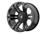 KMC XD77889000735 XD Monster 18x9 6x127 Black (35mm Offset) Wheel /