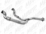 "MBRP FGAL010 Aluminized 3"" Y-Pipe DownPipe W/Catalytic Converters 2011-2014 Ford F-150 3.5 EcoBoost /"