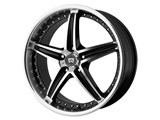 Motegi Racing MR10777551345 MR107 17x7.5 5x100 Gloss Black Machined (45mm Offset) Wheel /