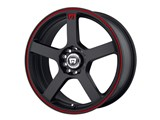 Motegi Racing MR11667098740 MR116 16x7 4x100/4x114.3 Black W/Red Stripe (40mm Offset) Wheel /