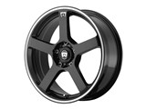 Motegi Racing MR11677098340 MR116 17x7 4x100/4x114.3 Gloss Black W/Mach Flange (40mm Offset) Wheel /